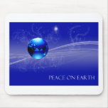 Paz en la tierra - azul tapete de ratón