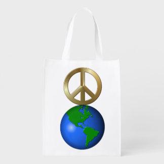 Paz en la tierra bolsas para la compra