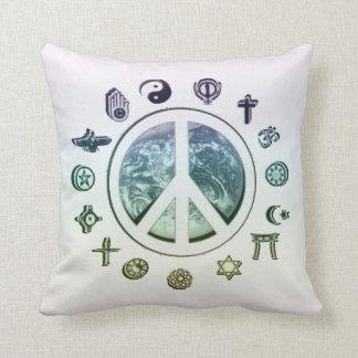 Paz en la tierra cojín