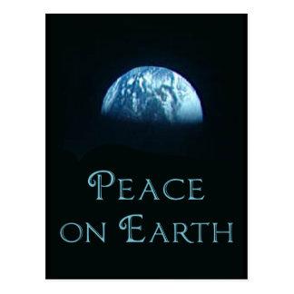 Paz en la tierra con la imagen de la tierra del es tarjeta postal