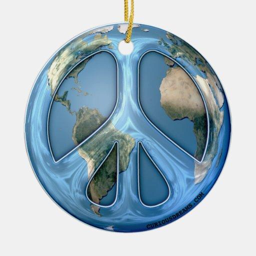 Paz en la tierra ornamento de navidad
