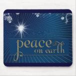 Paz en la tierra… en paz divina tapetes de ratón