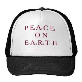 Paz en la tierra gorras de camionero