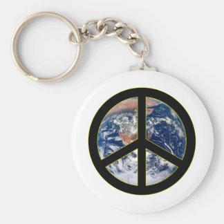 Paz en la tierra llaveros