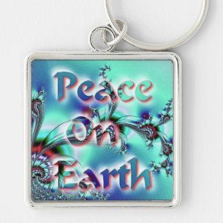 Paz en la tierra llavero personalizado