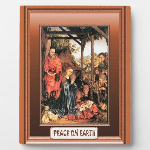 Paz en la tierra placas con foto