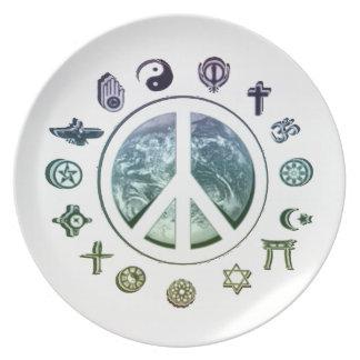 Paz en la tierra platos