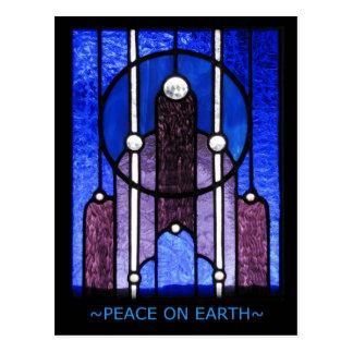 Paz en la tierra - postal del día de fiesta
