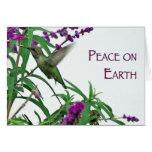 Paz en la tierra tarjeta