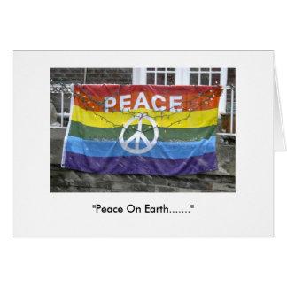 """""""Paz en la tierra """" Tarjeta De Felicitación"""