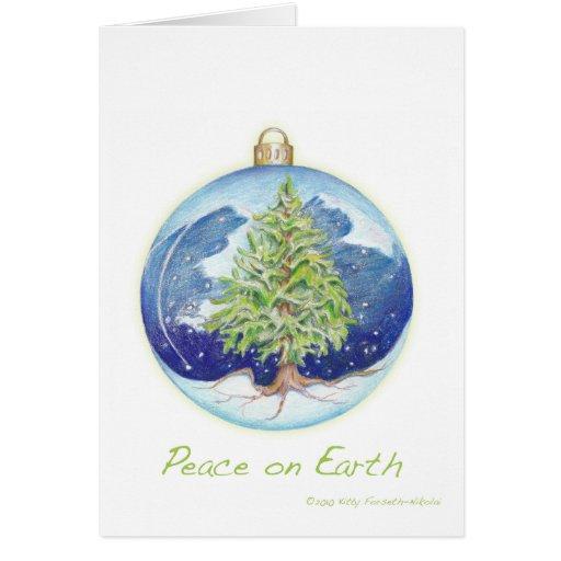 Paz en la tierra tarjeta de felicitación