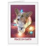 Paz en la tierra tarjeta pequeña