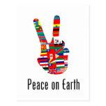 Paz en la tierra tarjetas postales