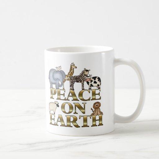 Paz en la tierra taza