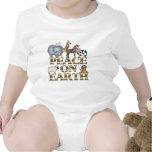 Paz en la tierra trajes de bebé