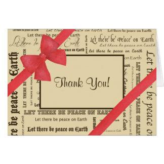 Paz en la tipografía de la tierra, arco rojo tarjeta pequeña