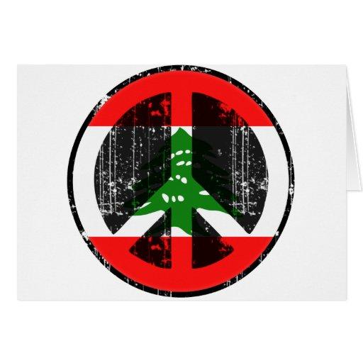 Paz en Líbano Felicitación
