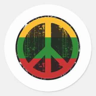 Paz en Lituania Pegatina Redonda