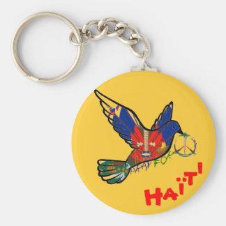 PAZ EN llavero de la paloma de HAITÍ