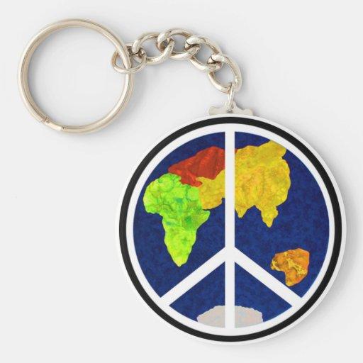 Paz en llavero de la tierra