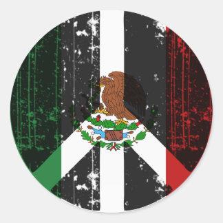 Paz en México Pegatina Redonda