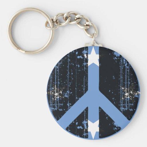 Paz en Micronesia Llavero Redondo Tipo Pin