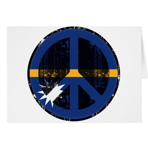Paz en Nauru Tarjetón