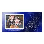 Paz en navidad de la tierra o tarjetas de la foto tarjetas personales con fotos