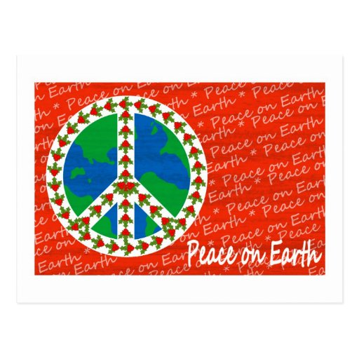 Paz en navidad de la tierra postales