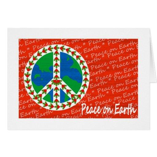 Paz en navidad de la tierra tarjetas