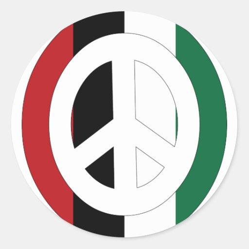Paz en Palestina Pegatinas Redondas
