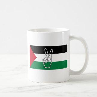 Paz en Palestina Taza De Café