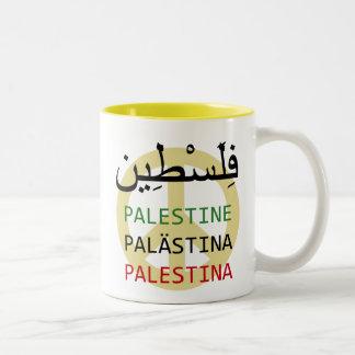 Paz en Palestina Taza De Café De Dos Colores