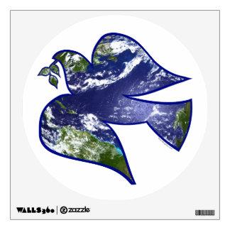 Paz en paloma de la tierra