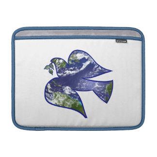 Paz en paloma de la tierra funda para macbook air
