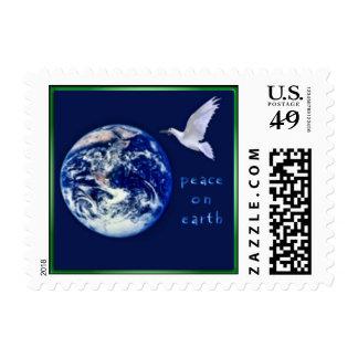 Paz en pequeños sellos de la tierra