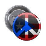 Paz en Puerto Rico Pin