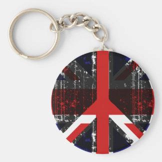 Paz en Reino Unido Llavero Personalizado