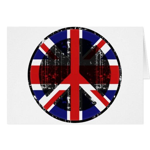 Paz en Reino Unido Tarjeta De Felicitación
