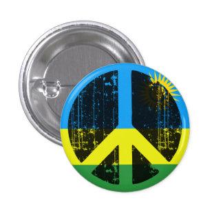 Paz en Rwanda Chapa Redonda 2,5 Cm