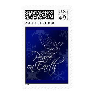 Paz en sello de la paloma de la tierra