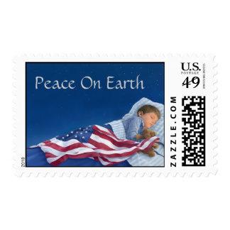 Paz en sello de la tierra