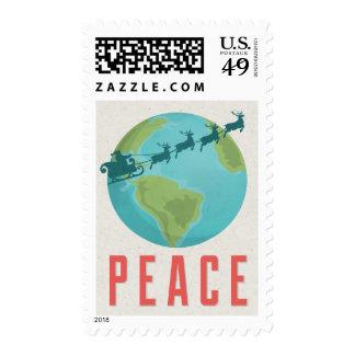 Paz en sello del día de fiesta de la tierra