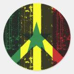 Paz en Senegal Pegatinas Redondas