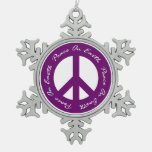 Paz en signo de la paz púrpura del día de fiesta d