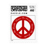 Paz en signo de la paz rojo del día de fiesta de l