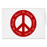 Paz en signo de la paz rojo del día de fiesta de l felicitacion