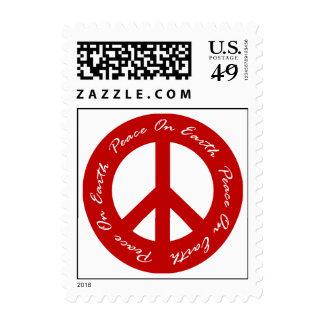 Paz en signo de la paz rojo del día de fiesta de sellos