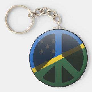 Paz en Solomon Island Llaveros