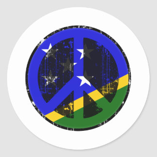 Paz en Solomon Island Pegatina Redonda